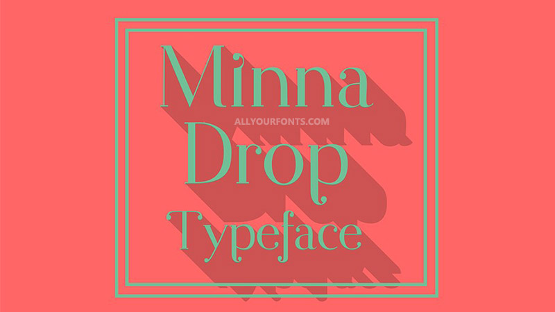 Minna Drop Font Free Download