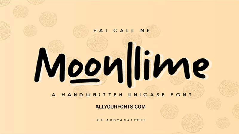 Moonllime Font Family Free Download