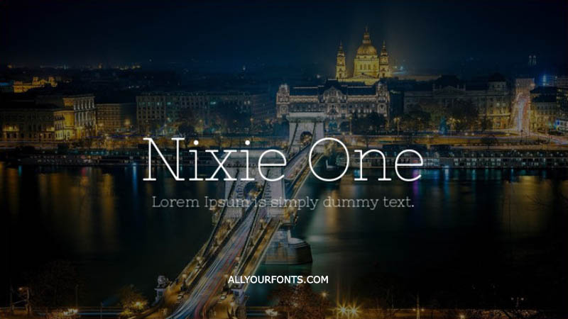 Nixie One Font Family Free Download