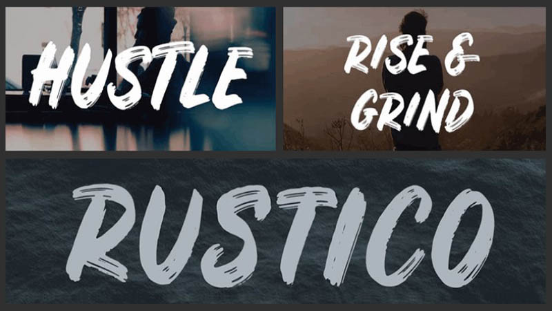 Rustico Font Family Download