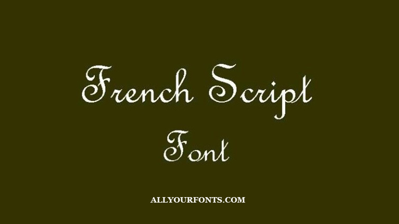 French Script Font Family Free Download