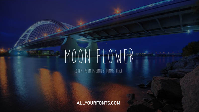Moon Flower Font Family Free Download