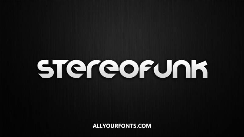 Stereofunk Font Family Free Download