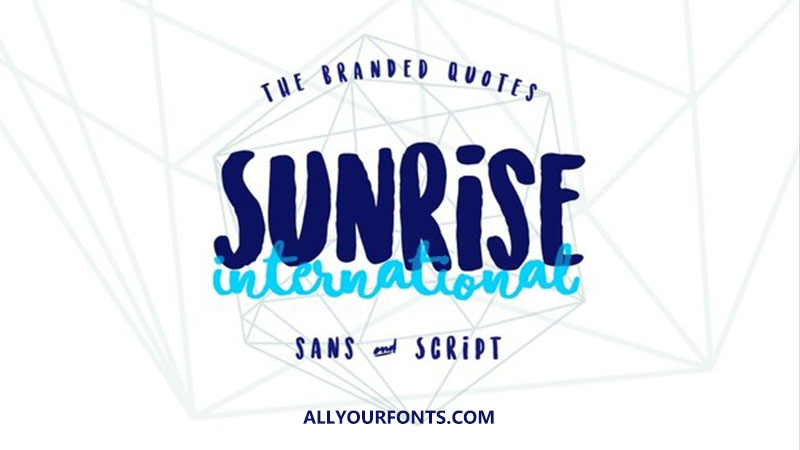 Sunrise International Font Family Free Download