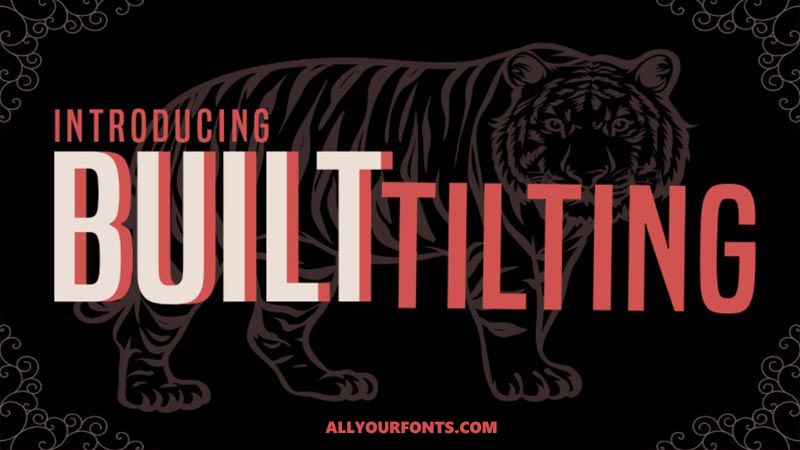 Built Titling Font Family Free Download