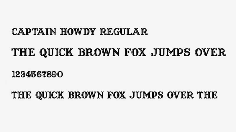 Captain Howdy Font Family Download