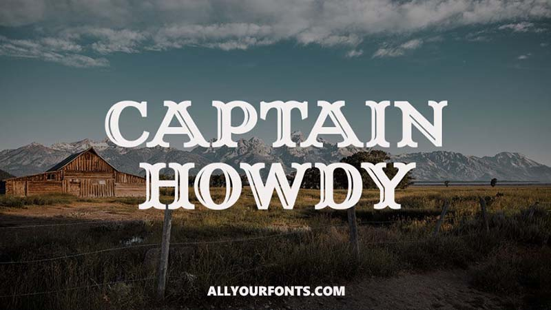 Captain Howdy Font Family Free Download
