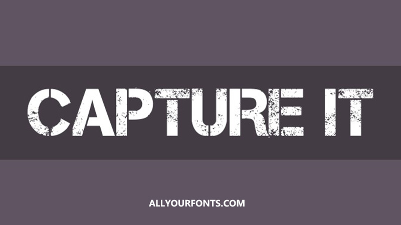 Capture It Font Family Free Download