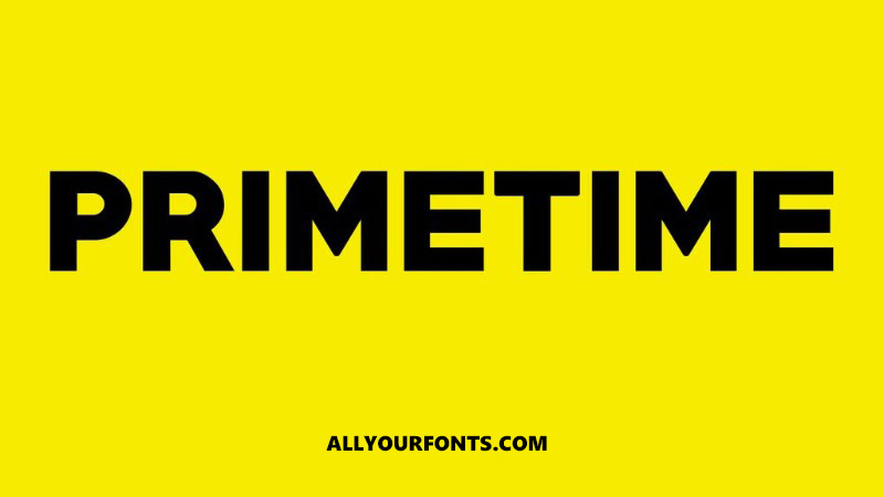 Primetime Font Family Free Download