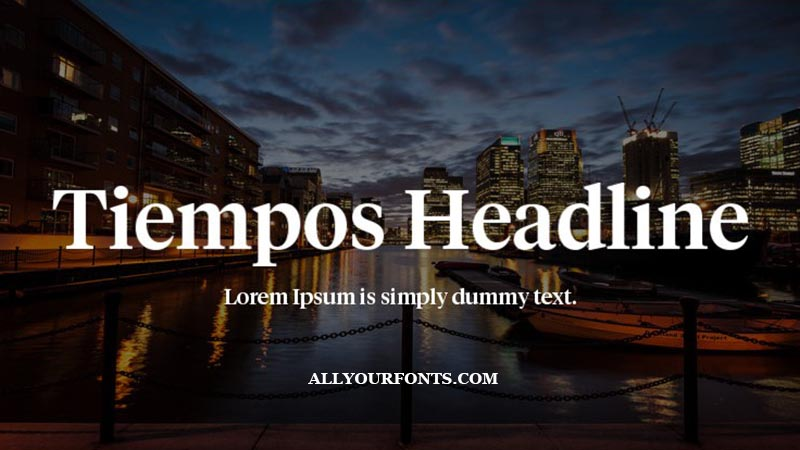 Tiempos Font Family Free Download
