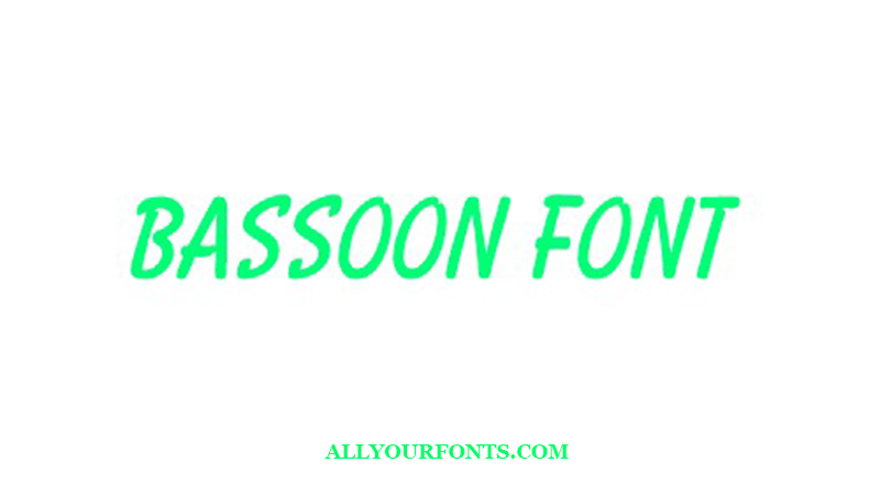 Bassoon Font Free Download