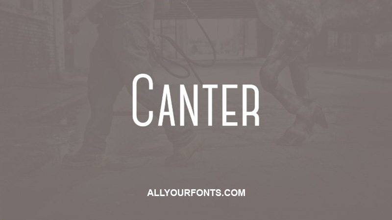 Canter Font Family Free Download