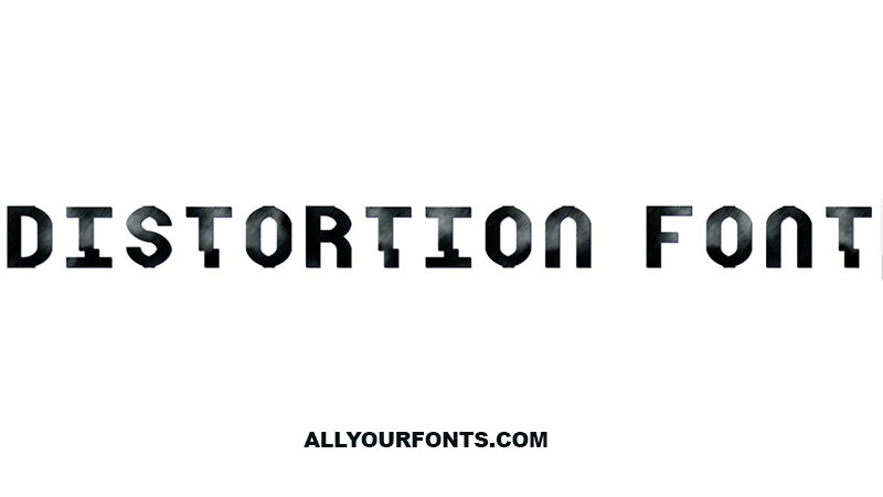 Distortion Font Free Download