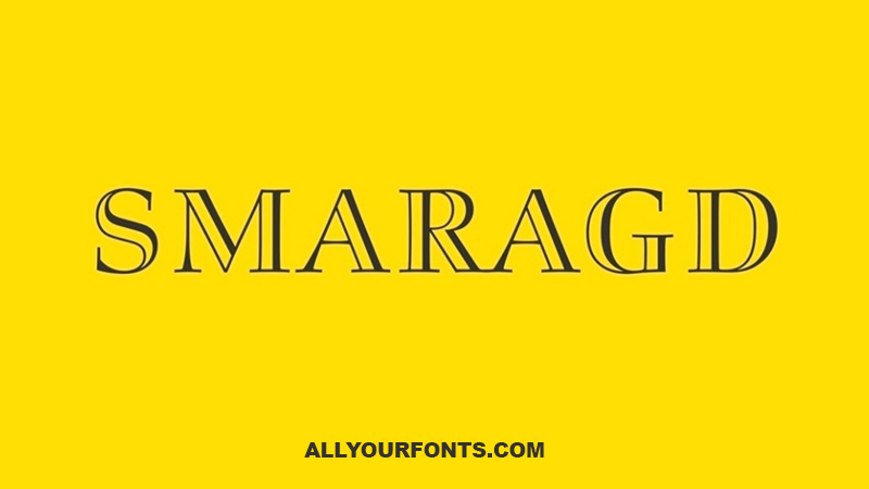 Smaragd Font Family Free Download