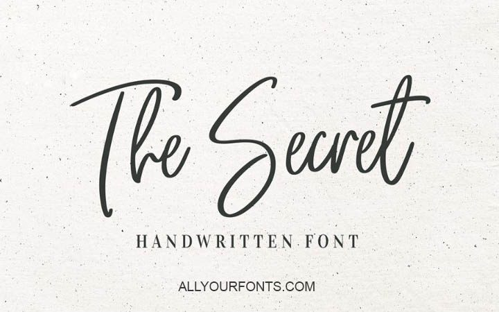 The Secret Font Family Free Download