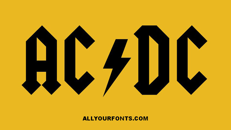 AcDc Font Family Free Download