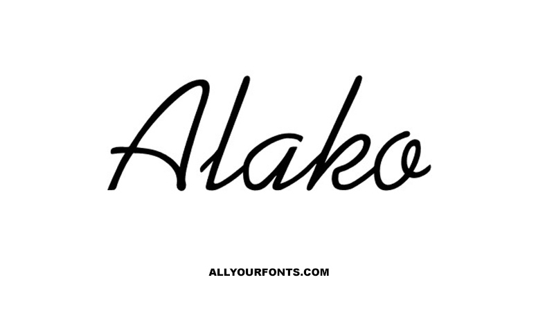 Alako Font Family Free Download