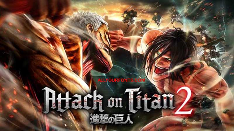 Attack On Titan Font Family Free Download