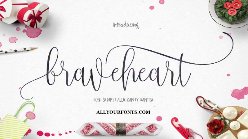 Braveheart Font Family Free Download
