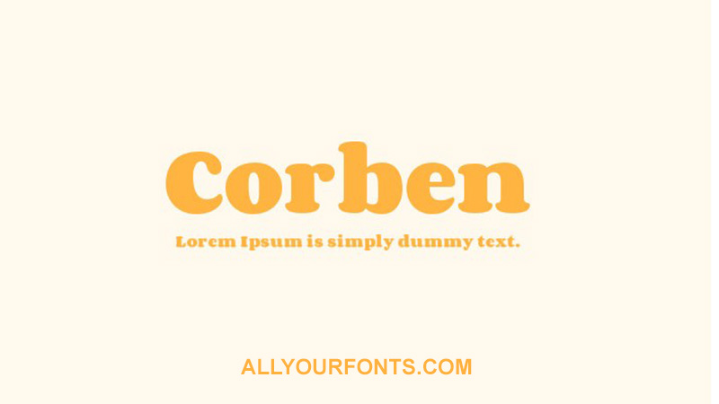 Corben Font Family Free Download