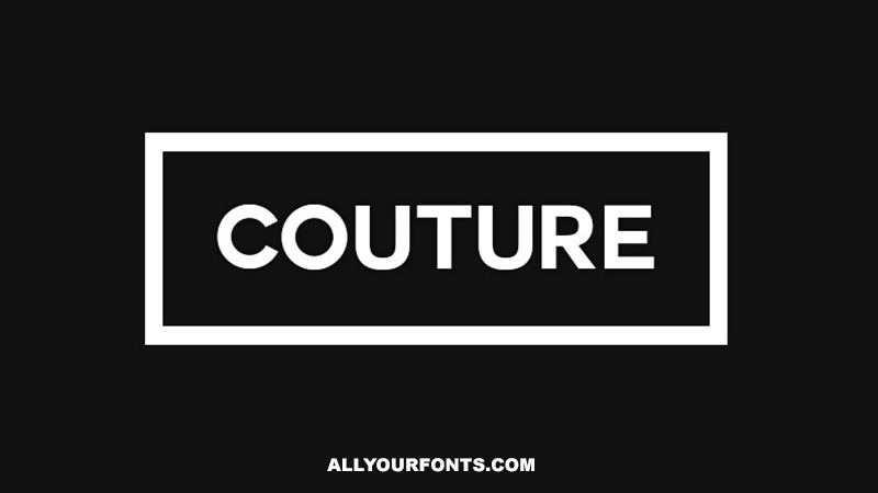 Couture Font Free Download