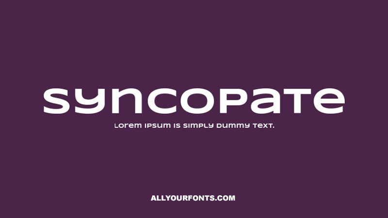 Syncopate Font Family Free Download