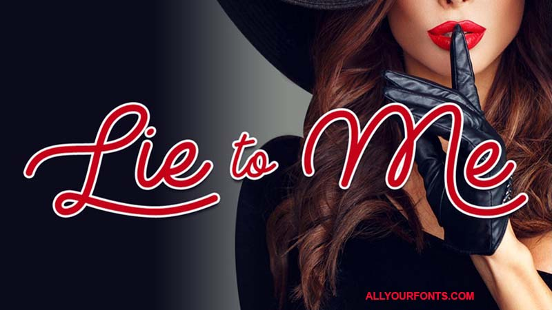 Lie To Me Font Free Download