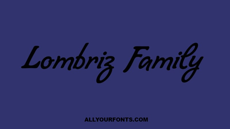 Lombriz Font Family Free Download