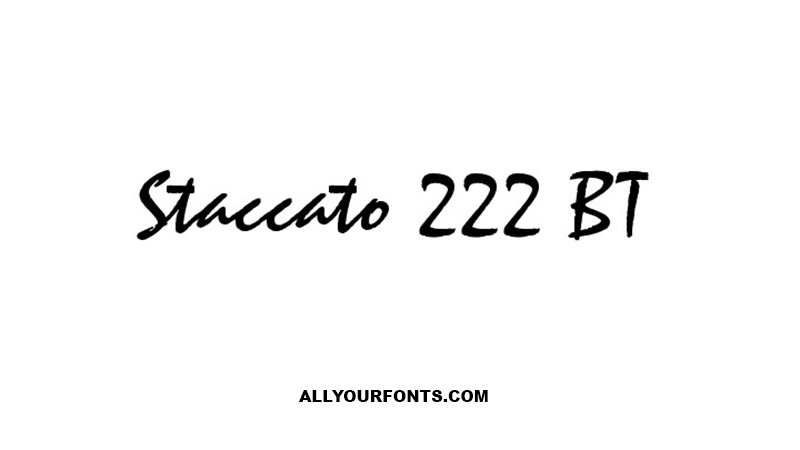 Staccato Font Family Free Download