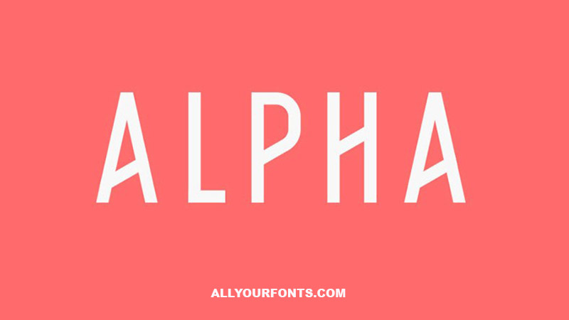 Alpha Font Family Free Download