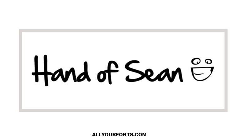 Hand of Sean Font Family Free Download