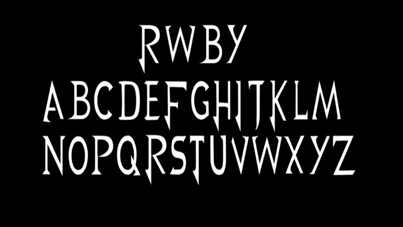 RWBY Font Family Download