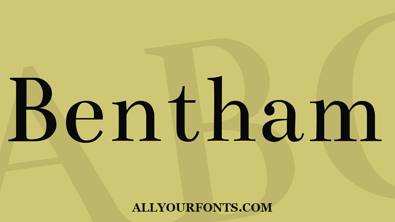 Bentham Font Family Free Download
