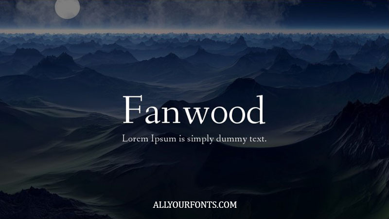 Fanwood Font Family Free Download