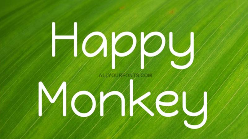 Happy Monkey Font Family Free Download