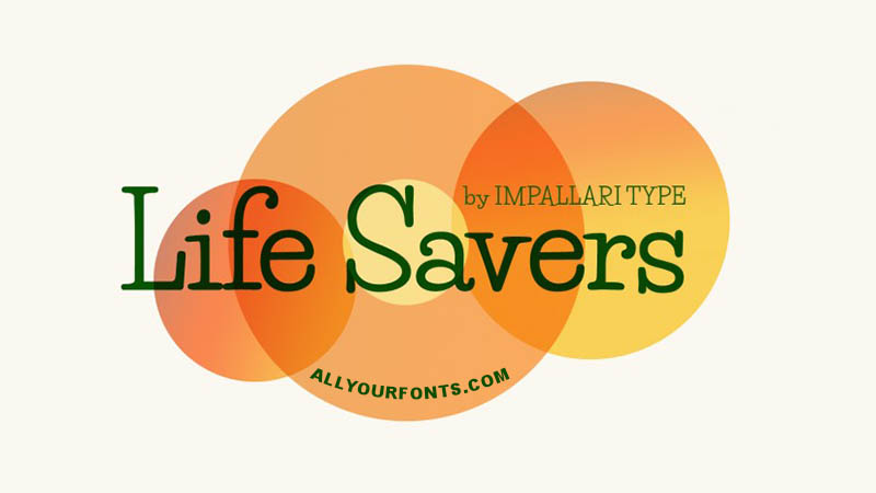 Life Savers Font Download