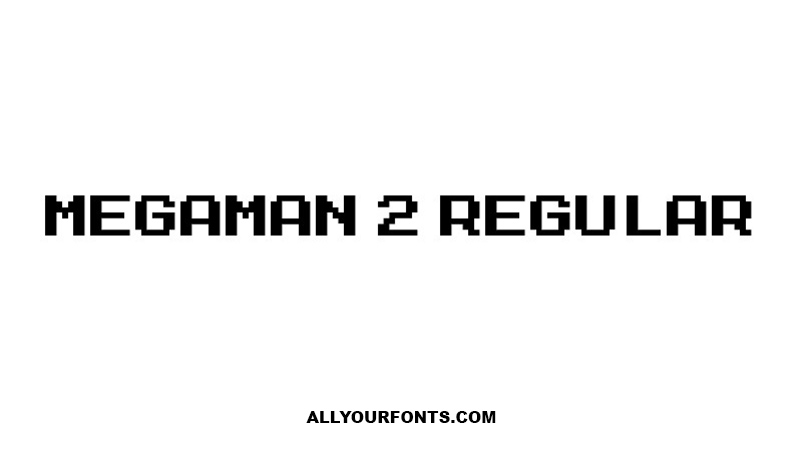 Megaman 2 Font Family Free Download
