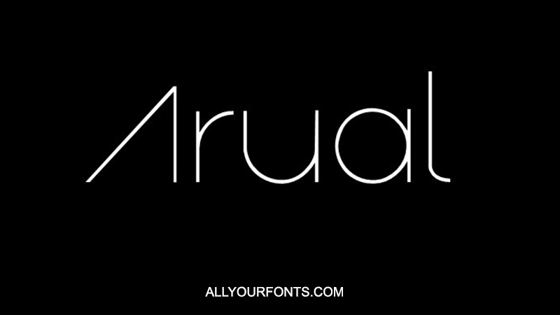 Arual Font Family Free Download