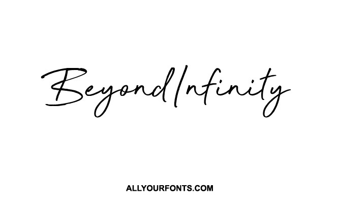 Beyond Infinity Font Family Free Download