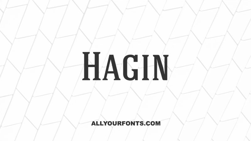 Hagin Font Family Free Download