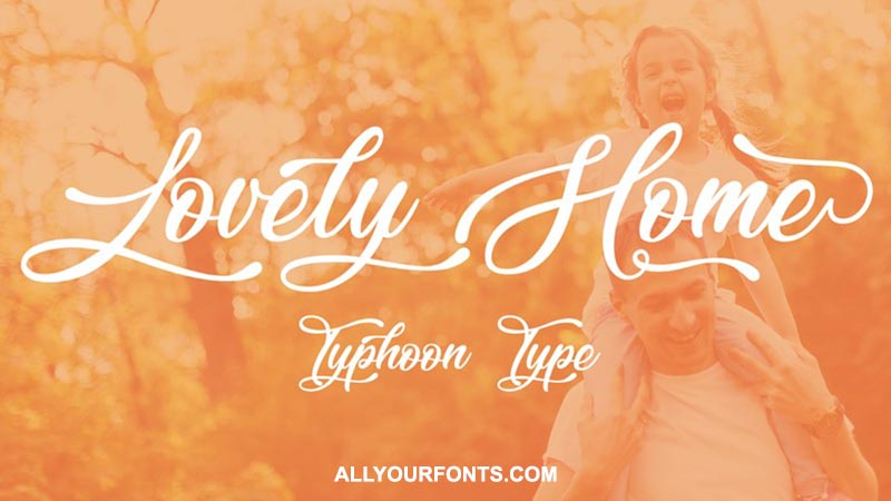 Lovely Home Font Download
