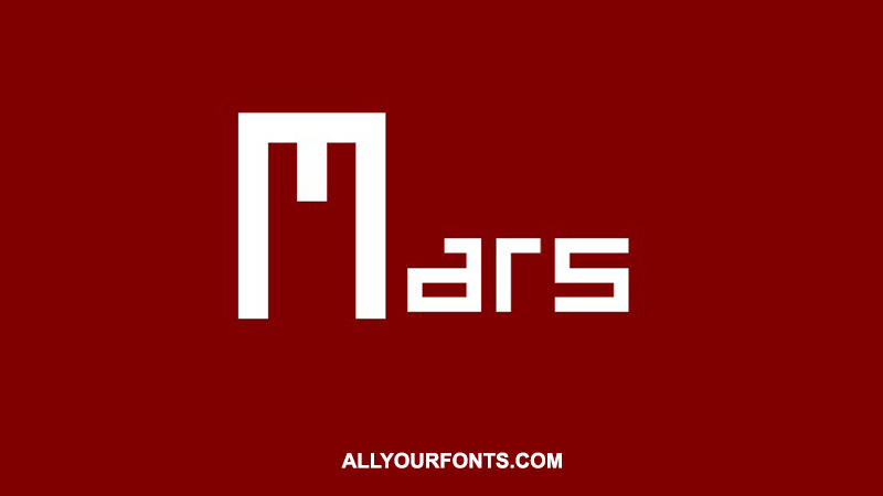 Mars Font Free Download