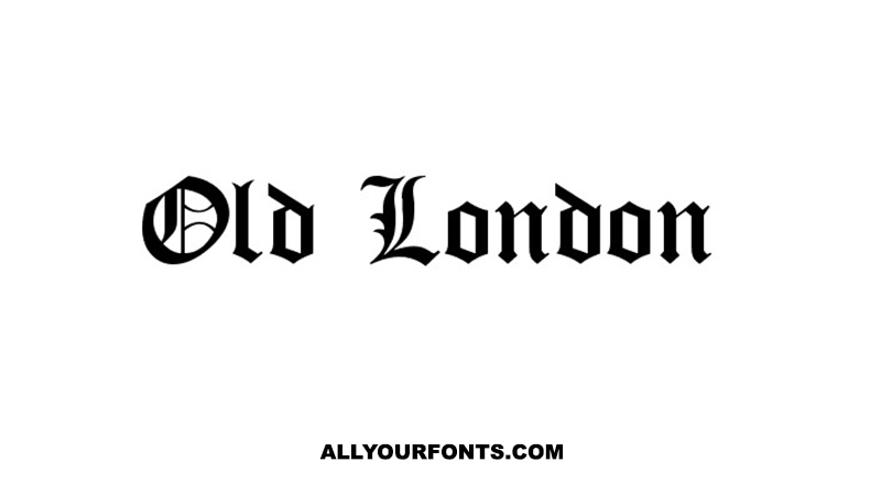 Old London Font Family Free Download