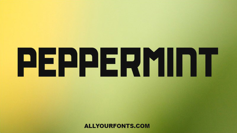 Peppermint Font Free Download
