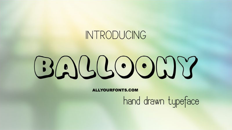 Balloony Font Family Free Download