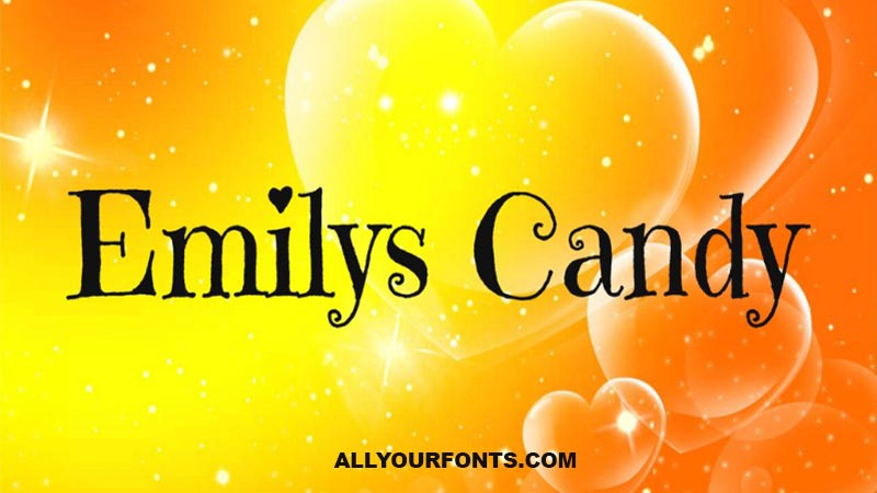Emilys Candy Font Family Free Download