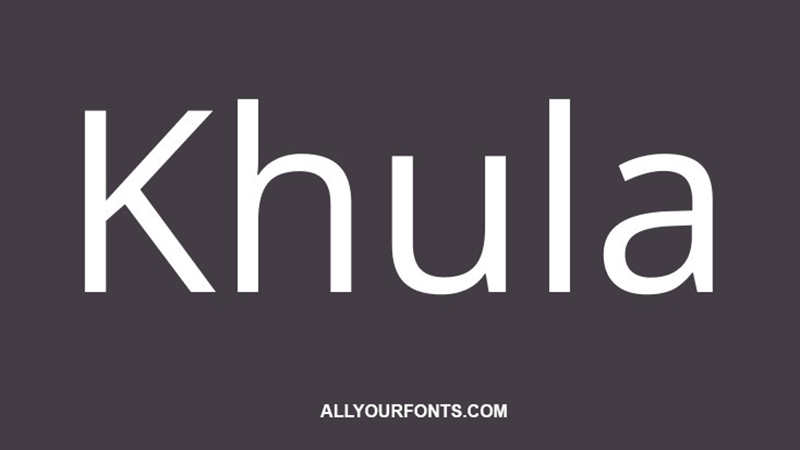 Khula Font Family Free Download