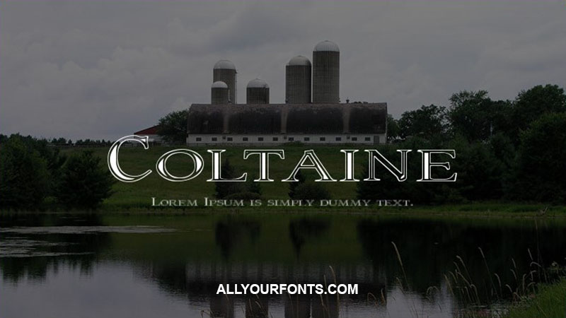 Coltaine Font Family Free Download