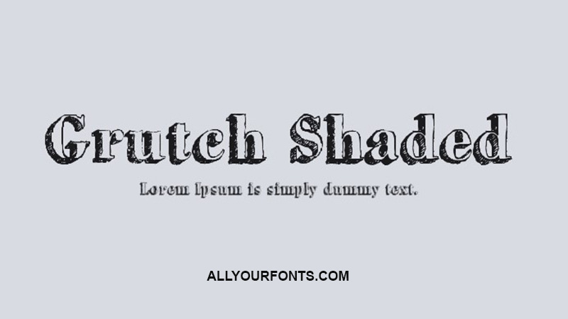Grutch Shaded Font Family Free Download