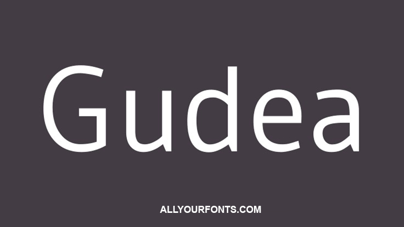 Gudea Font Family Free Download